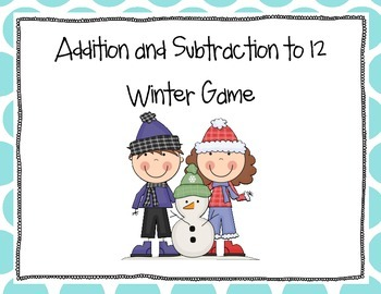 Addition and Subtraction Winter Game
