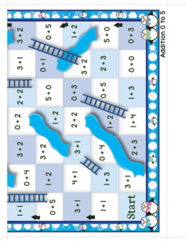 Addition and Subtraction - Winter Themed Climb and Slide Game Boards
