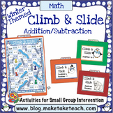 Addition and Subtraction - Winter Themed Climb and Slide G