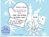 """Addition and Subtraction Winter Themed """"Mitten Math"""""""