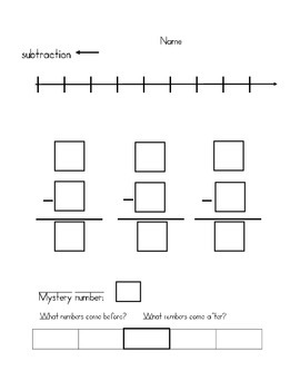 Addition and Subtraction With Fill in Number line