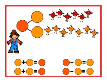 Addition and Subtraction With Number Bonds: Fall Themed Flip Chart