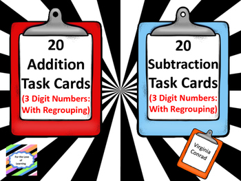 Addition and Subtraction With Regrouping--3 Digit Numbers