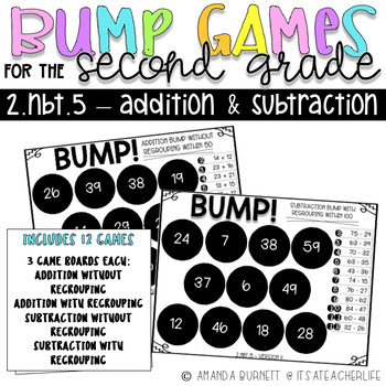 2.NBT.5 | Addition and Subtraction | With & Without Regrouping | BUMP Games