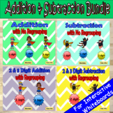 Addition and Subtraction With and Without Regrouping MEGA BUNDLE