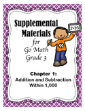 Addition and Subtraction Within 1,000 - Grade 3 GoMath - S