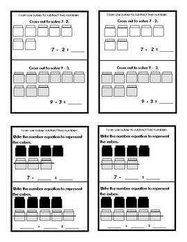 Addition and Subtraction Within 10:  Differentiated Math Journals/Exit Tickets
