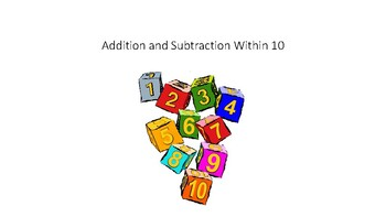 Addition and Subtraction Within 10 Flash Cards