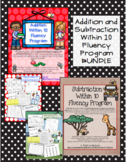 1st Grade Math Facts Addition and Subtraction Within 10 Fluency BUNDLE 1.OA.6