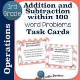 Addition and Subtraction Within 100 Word Problem Task Cards