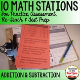Addition and Subtraction Within 1000 Math Stations