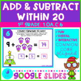 Addition and Subtraction Within 20 - Christmas - Google Sl