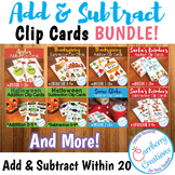 Addition and Subtraction Within 20 Clip Cards BUNDLE