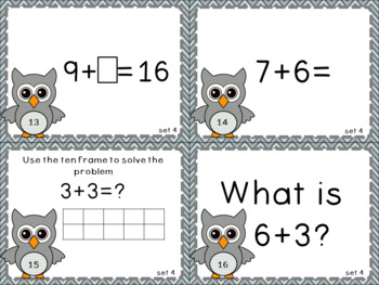Addition and Subtraction Within 20 Common Core Aligned Task Cards