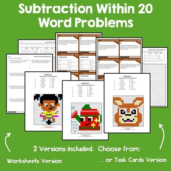 Addition and Subtraction Within 20 Word Problems