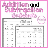Addition and Subtraction Within 20 Worksheets | 1st Grade Math Facts