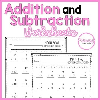 Addition and Subtraction Within 20 Worksheets | 1st Grade ...