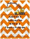 Kindergarten Addition and Subtraction Within 5 Math Fluenc