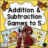 Addition and Subtraction Within 5 Games {Fall Theme}