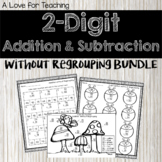 2 Digit Add. & Sub. Without Regrouping BUNDLE {No Prep+Dig