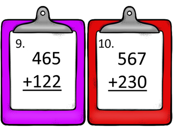 Addition and Subtraction Without Regrouping--Three Digit Numbers