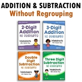 Mixed Addition And Subtraction Worksheets No Regrouping Bundle