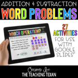 Addition and Subtraction Word Problem Activities for Googl