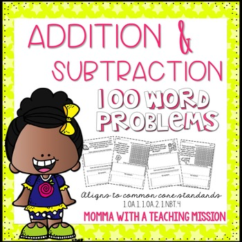 Word Problems Addition and Subtraction NO PREP Printables