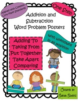 One Step Addition and Subtraction Word Problem Posters