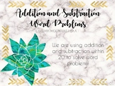 Addition and Subtraction Word Problem PowerPoint Lesson