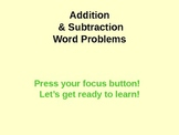 Addition and Subtraction Word Problem Powerpoint (1st and