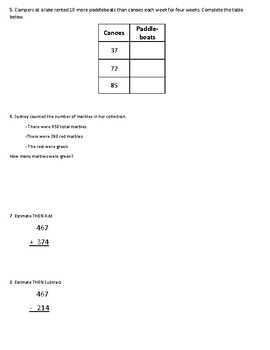Addition and Subtraction Word Problem Practice