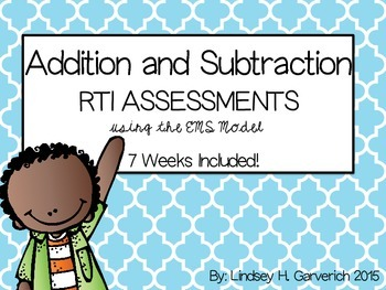Addition and Subtraction Word Problem RTI Pack