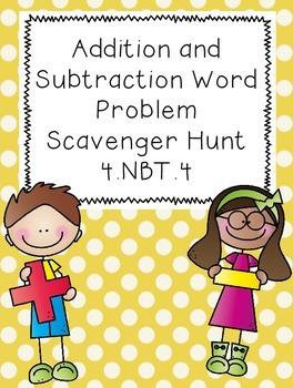 Addition and Subtraction Word Problem Scavenger Hunt
