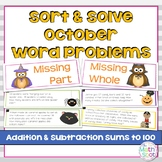 Halloween Addition and Subtraction Word Problems
