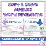 Addition and Subtraction Word Problem Sort: Sea Creatures
