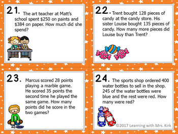 Addition and Subtraction Word Problem Task Card BUNDLE