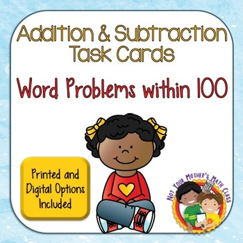 Addition and Subtraction Word Problem Task Cards with Digital Option