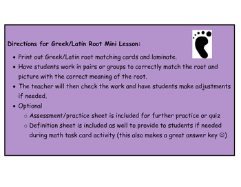 Addition and Subtraction Word Problem Task Cards (Greek/Latin root TWIST)