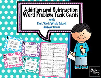 Addition and Subtraction Word Problem Task Cards (No Regro
