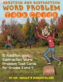 Addition and Subtraction Word Problem Task Cards- Scarecrow Edition!
