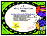Addition and Subtraction Word Problem Task Cards with QR Codes