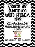 Addition and Subtraction Word Problem Types