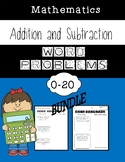 Addition and Subtraction Word Problem Worksheets BUNDLE