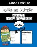Addition and Subtraction Word Problem Worksheets BUNDLE