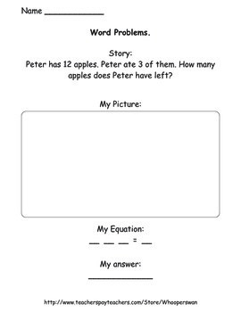 Addition and Subtraction Word Problems Worksheets