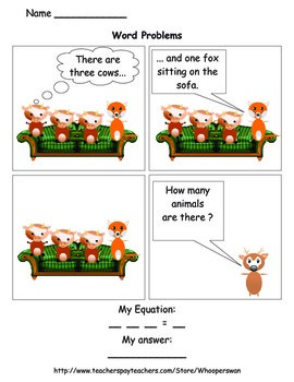 Addition and Subtraction Word Problems Comics