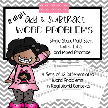 Addition and Subtraction Word Problems 2 digit