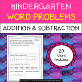 Addition and Subtraction Word Problems for Kindergarten