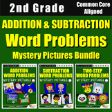 2nd Grade Addition and Subtraction Word Problem Regrouping Mixed Worksheets
